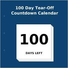 100 day tear countdown calendar 9781922217547
