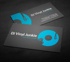 Business Card Music Vinyl Dj Business Card Businesscards Music Psdtemplates
