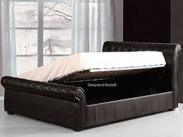 4ft Ottoman Beds Uk Black Luxury Faux Leather Ottoman Bed 4ft Small