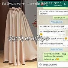 rok panjang muslim testtimoni rok velvet umbrella griya raditya