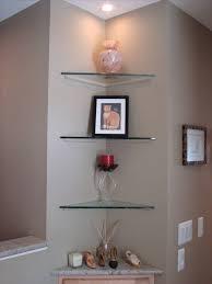 bathroom glass corner bathroom shelves decorate ideas creative