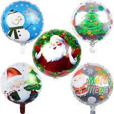 wholesale balloons free shipping 50pc new christmas santa claus circular foil balloon