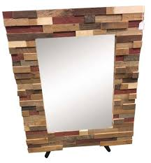 Reclaimed Wood Executive Desk Reclaimed Wood Block Art Mirror