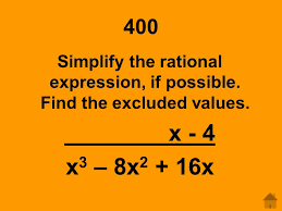 solve rational expressions ppt video online download