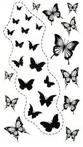 shipping free king horse new design black butterflies temporary