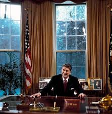 Oval Office Gold Curtains by Loyola University Chicago Digital Special Collections President