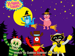 free halloween wallpaper for android my free wallpapers cartoons wallpaper yo gabba gabba halloween