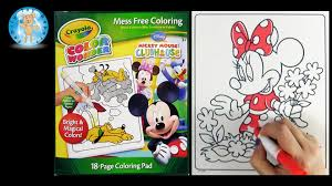 crayola color wonder mickey mouse clubhouse coloring book minnie