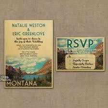 montana wedding invitation printable montana wedding invites