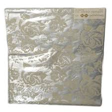 vintage gift wrap silver velvety flocked roses tie tie vintage gift wrap paper