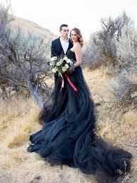 black wedding dresses chic black wedding dresses a line simple country wedding