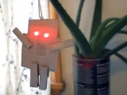 led robot ornament make