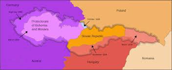 Romania Blank Map by Czechoslovakia 1939he 1 U2022 Mapsof Net