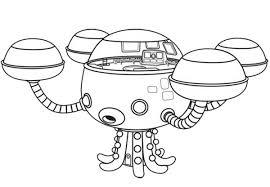 octopod octonauts octopus submarine coloring download