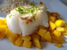 cuisiner la mangue recette de dos de cabillaud à la mangue caramélisée la recette facile