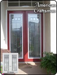 fiberglass front doors with glass craftsman style entry front doors the glass door store