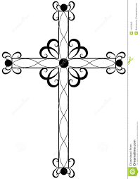 traditional ornate religious cross stock vector illustration of