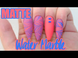 matte water marble acrylic nails water marble sticker youtube
