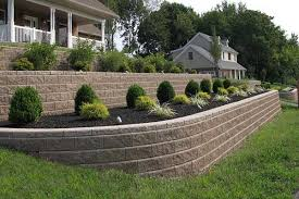In Front Yard - retaining wall tackles sloping front yard