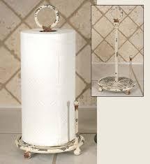 provincial paper towel holder antique white