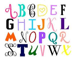 monogram letter stickers vinyl letters etsy
