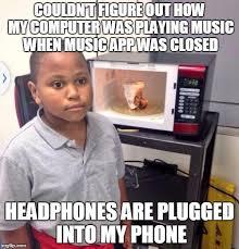 Kid On Computer Meme - microwave kid imgflip