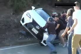 lexus turbo crash video teen crashes dad u0027s one week old lexus rc f on mulholland