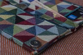 Multi Coloured Upholstery Fabric Woman U0027s Wallet Geometric Upholstery Fabric Handmade Wallet