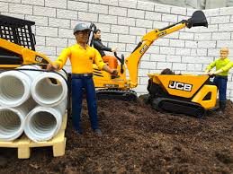 bruder excavator bruder toys construction company mini jcb cat youtube