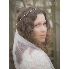 boho bridal flower crown and veil pelican rose bride rustic