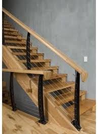 Metal Stair Rails And Banisters Fixer Upper Wood Stairs Rustic Modern And Cable