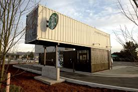 starbucks coffee shop made from shipping containers amys office