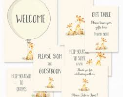 giraffe baby shower ideas giraffe baby shower etsy