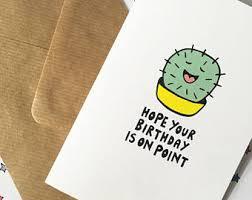 cactus pun card etsy