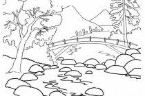 nature scene coloring pages pages free coloring of hard halloween with difficultjpg on with