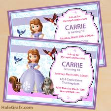 free printable sofia the first birthday invitation pack disney
