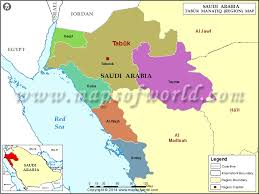 map of tabuk tabuk map map of tabuk region mintaqah saudi arabia