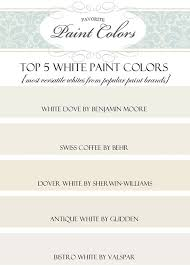 my 5 top white paint colors favorite paint colors blog