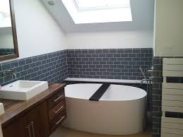white oval freestanding tubs inspiration design added subway wall