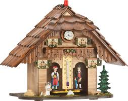 chalet houses cuckoo clock weather house movement chalet style 20cm by trenkle
