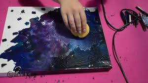 diy wall art crayon galaxy youtube