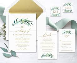wedding invitations greenery greenery wedding invitation printable greenery wedding