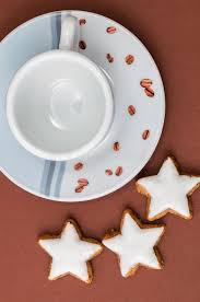 christmas cookies and a coffee cup royalty free stock image