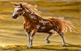 tiger horse desktop background hd 1920x1200 deskbg com