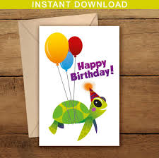 printable birthday cards with turtles turtle happy birthday card turtle printable birthday card