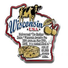 Wisconsin Usa Map by Wisconsin Magnets Classic State Refrigerator Magnets