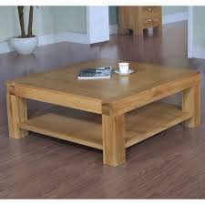 48 Square Coffee Table Rustic Oak Coffee Table With Sliding Rail
