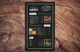 free chalkboard restaurant menu template psd free download