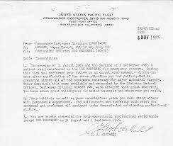 Letter Of Commendation Uss Kennebec Ao 36 Association Photo Album