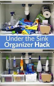 how to organize the sink cabinet easiest the sink organizer hack diy kitchen storage